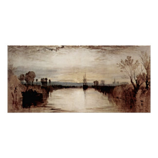 Chichester Canal by Joseph Mallord William Turner Poster