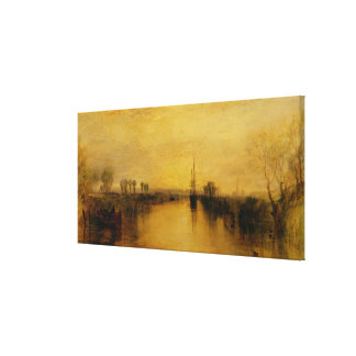 Chichester Canal, c.1829 Canvas Print