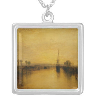 Chichester Canal, c.1829 Square Pendant Necklace