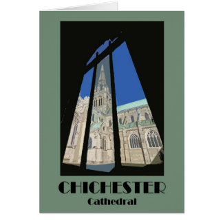 Chichester Cathedral 1920s-style retro card