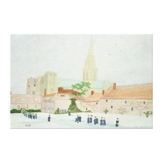 Chichester Cathedral and Visiting Choir Canvas Print