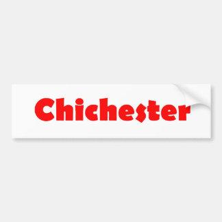 Chichester city of england bumper sticker