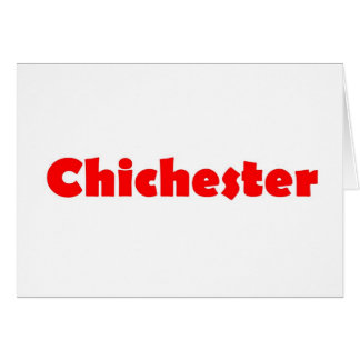 Chichester city of england card