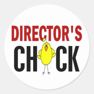 Chick 1 de director pegatina redonda