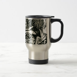 Chick-a-Dee [black and white print] Mugs