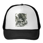 Chick-a-Dee [black and white print] Trucker Hats
