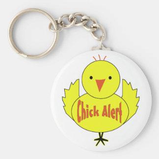 Chick Alert Keychain