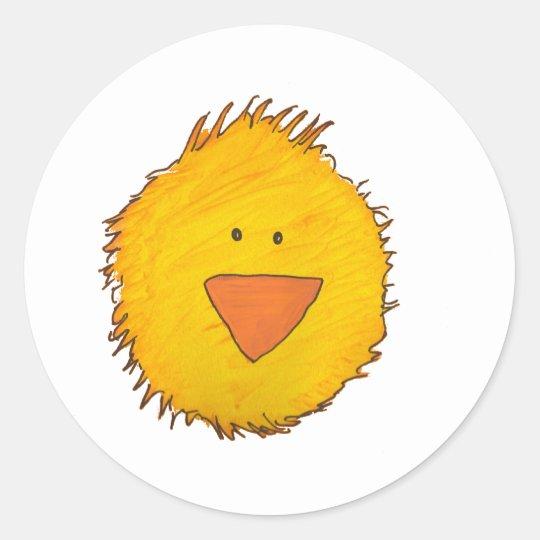 Chick Alone Classic Round Sticker