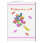 Chick and Balloons Kindergarten Graduation Greeting Card