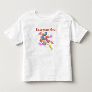 Chick and Balloons Kindergarten Graduation Toddler T-shirt
