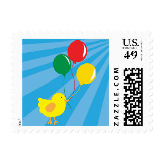 Chick and Balloons Postage