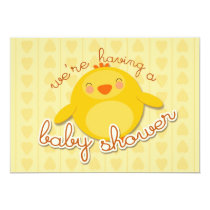 CHICK BABY SHOWER - invitation