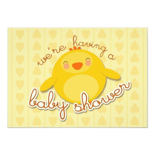 CHICK BABY SHOWER - invitation
