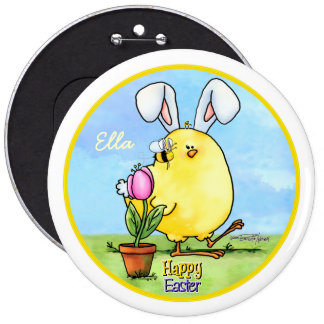 chick-bee-bunny-skybg12x12-easter-cp pin redondo de 6 pulgadas