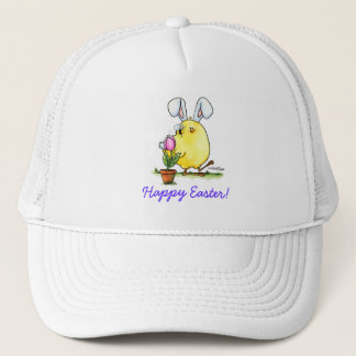 chick-bee-bunny-skybg12x12-easter-cp trucker hat