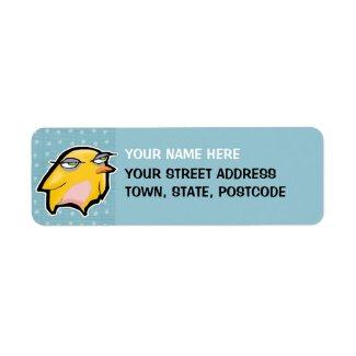 Chick blue Return Address Label
