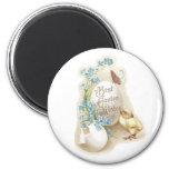 Chick, Butterfly & Eggs Vintage Easter Fridge Magnet