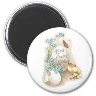 Chick, Butterfly & Eggs Vintage Easter Magnet