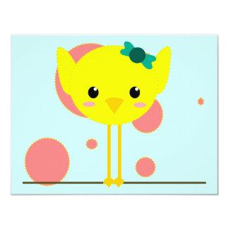 chick chik little cute 4.25x5.5 paper invitation card