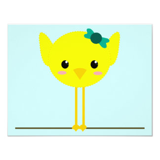 chick chik little cute personalized invitation