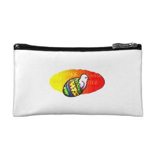 chick colorful egg easter sunset background cosmetic bag