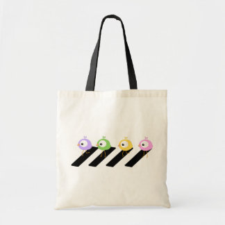 Chick Crossing -Beatles Abbey Road style tote bag