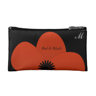 Chick Cute Red Anemone Gardener Makeup Bag