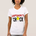 Chick de capitán camisetas