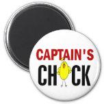 Chick de capitán imanes de nevera