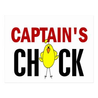 Chick de capitán tarjeta postal