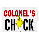 Chick de coronel tarjetas