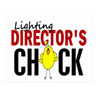 CHICK DE LA ILUMINACIÓN DE DIRECTOR POSTAL