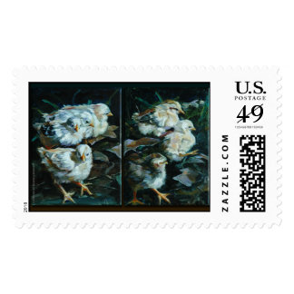 Chick Diptych Postage Stamp