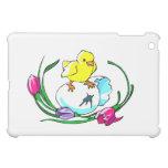 chick egg tulip cute easter design cover for the iPad mini