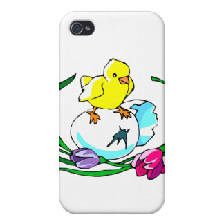 chick egg tulip cute easter design case for iPhone 4