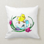 chick egg tulip cute easter design pillows