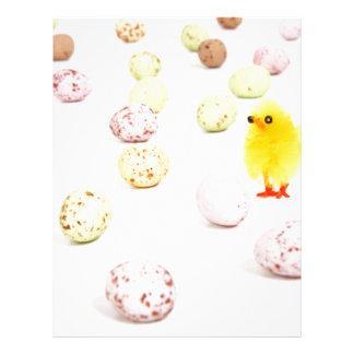 chick eggs easter letterhead
