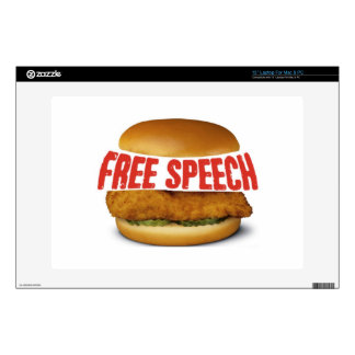 """Chick Fil A Appreciation Day - FREE SPEECH Decals For 13"""" Laptops"""