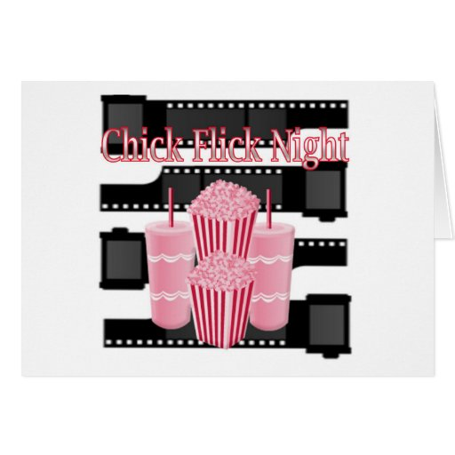 Chick Flick Night Greeting Cards