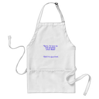 Chick Flick Said No Guy Ever Black Blue Red Adult Apron