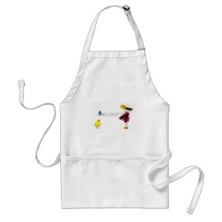 Chick & Girl with Eggshell Hat Vintage Easter Adult Apron