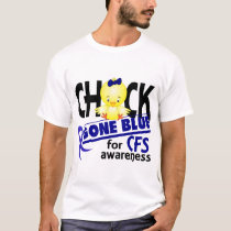 Chick Gone Blue For CFS Chronic Fatigue Syndrome 2 T-Shirt