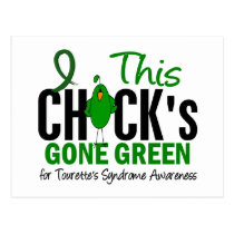 Chick Gone Green 1 Tourette's Syndrome Postcard