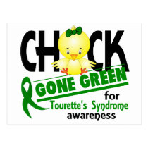 Chick Gone Green 2 Tourette's Syndrome Postcard