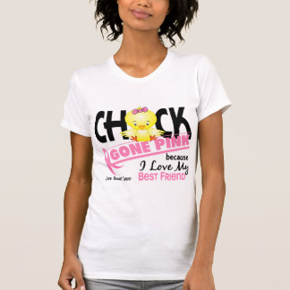 Chick Gone Pink For My Best Friend Breast Cancer T-Shirt