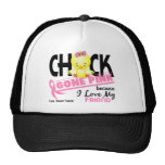 Chick Gone Pink For My Friend Breast Cancer Mesh Hat