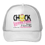 Chick Gone Pink For My Granddaughter Breast Cancer Trucker Hat