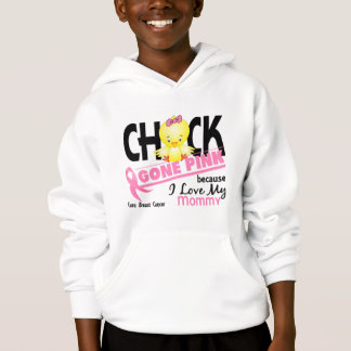 Chick Gone Pink For My Mommy Breast Cancer Hoodie