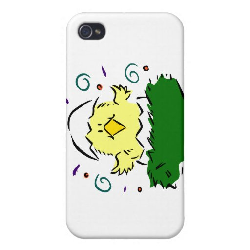 Chick half egg grass swirls iPhone 4/4S case