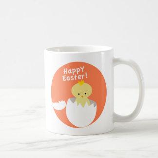 Chick Hatching Happy Easter Basic White Mug